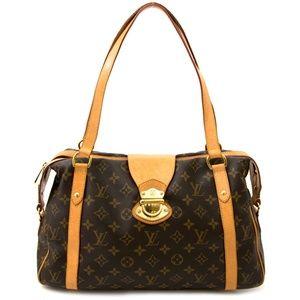 Auth Louis Vuitton Stresa Pm Brown Bag #2538L20